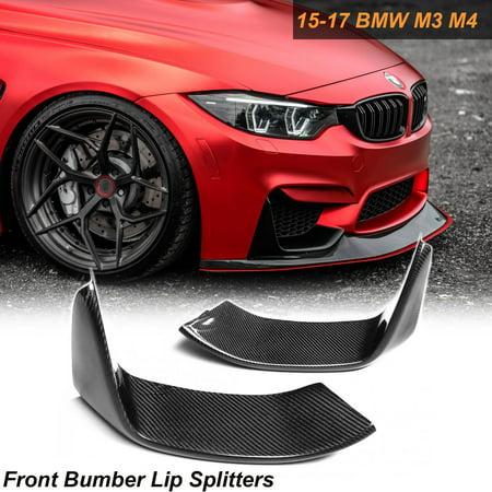 - Xotic Tech 1 Set Carbon Fiber Splitters Bumper Spoiler Lips Set For 2014-2018 BMW M3 M4 F80 F82 F83
