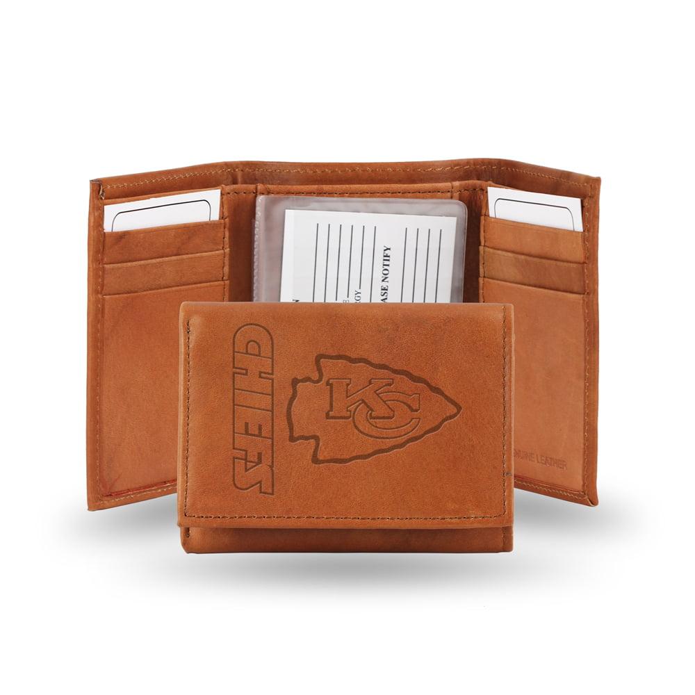 Kansas City Chiefs NFL Tri-Fold Wallet (Pecan Cowhide)
