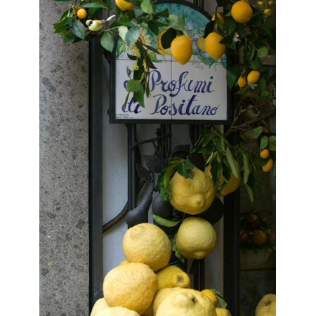 Lemons, Positano, Amalfi Coast, Campania, Italy Photo Print Wall Art By Walter Bibikow