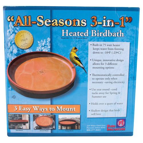 Farm Innovators All Seasons 3-in-1 Heated Bird Bath