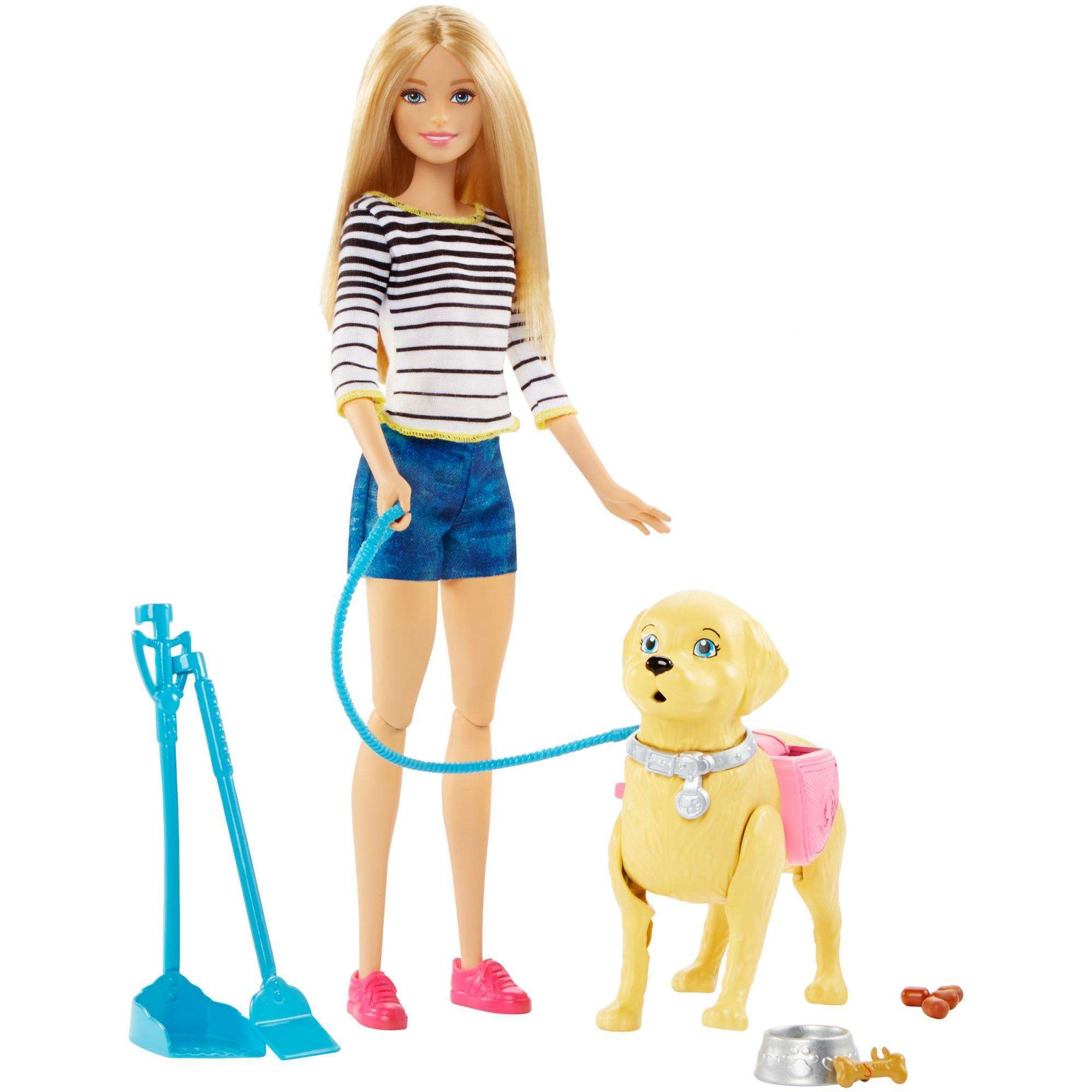 Barbie Walk & Potty Pup Doll