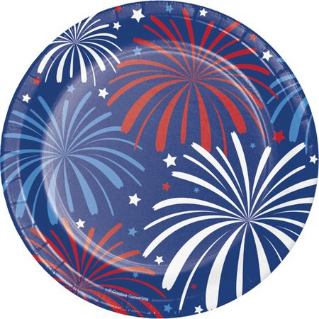 Creative Converting Patriotic Paper Appetizer Plate (Set of 24) - Patriotic Plates