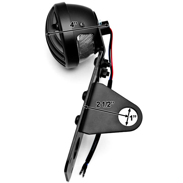 NEW Black Axle Mount Taillight Horizontal Vertical For Yamaha Stratoliner Midnight Deluxe - image 2 de 8