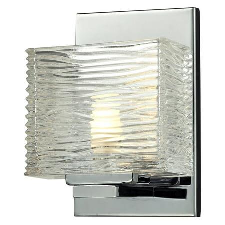 Z-Lite 3025-1V Jaol 1-Light ADA Compliant Bathroom Sconce with Clear Glass Shade Ada Compliant Bathroom Fixtures