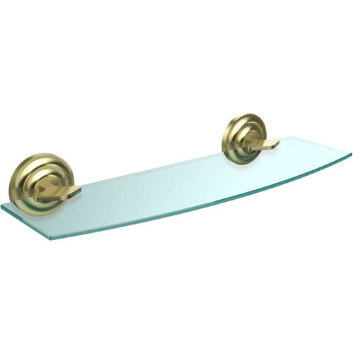 """Que New Collection 18"""" Glass Shelf (Build to Order)"""