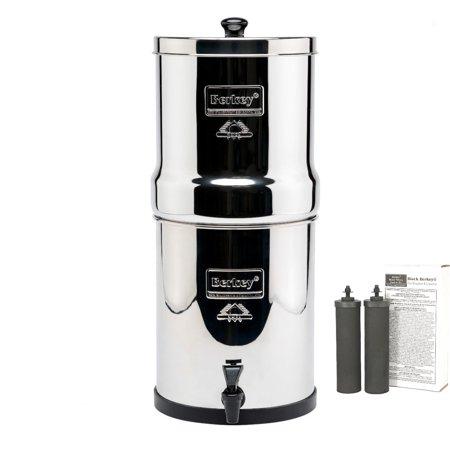 Berkey BK4X2-BB Big Berkey Stainless Steel Water Filtration System with 2 Black Filter Elements