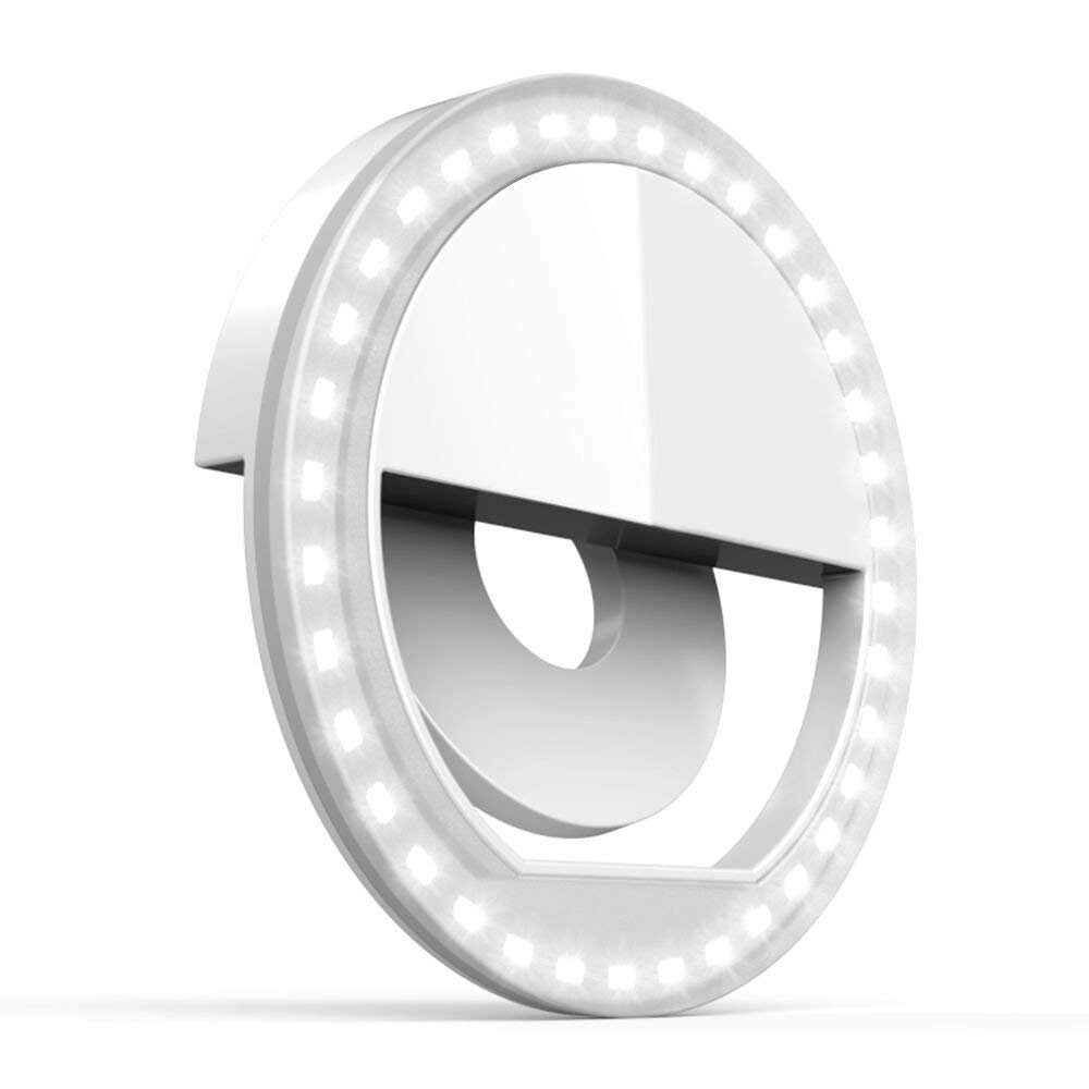 Ring Light for Camera [Rechargable Battery] Selfie LED