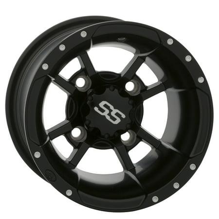 ITP SS Alloy SS112 Sport Wheel 10x8 - 4/110 - 3+5 Matte Black  #115187 ()