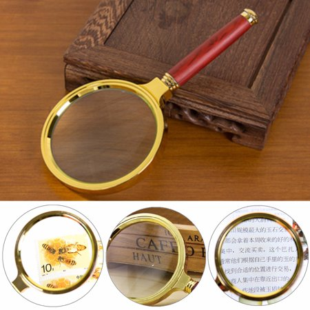 10X 70mm Handheld  Magnifier Magnifying Glass Loupe Reading Jewelry