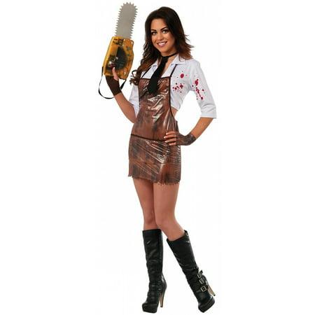Texas Chainsaw Massacre Costumes (Lady Leatherface Adult Costume -)