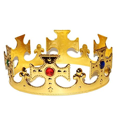 Dazzling Toys One Size Majestic Regal Crown For Costume, Dress-up or Anytime. Set of 2.