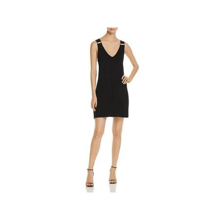 Lysse Leggings Womens Halsey Double-V Sleeveless Mini Dress