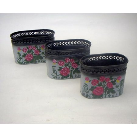 (Price/Set of 3)India Overseas Trading IR4038 - Iron Trash Basket (Best Dry Iron Box In India)