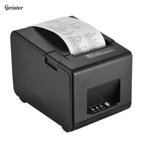 Gprinter GP-L80160I Thermal Receipt Printer Barcode Label Graphic Printer with Cutter 160mm/s 80mm Printing Width for Reastaurant Kitchen USB POS Computer Direct Thermal Barcode Printer