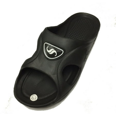 0122 Men's Rubber  Sandal Slipper Comfortable Shower Beach Shoe Slip On Flip Flop ()