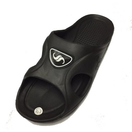 0122 Men's Rubber  Sandal Slipper Comfortable Shower Beach Shoe Slip On Flip