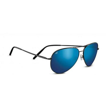 Serengeti  Sunglasses Med Aviator 8265 Shiny Dk Gunmetal Polar 555nm Blue Mirror