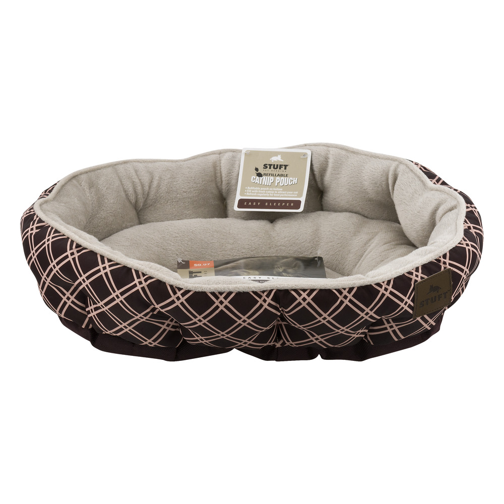 "Stuft Pet Bedding Easy Sleeper Pet Bed, 19"" X 14"", Brown"