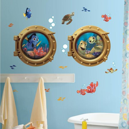 Finding Nemo & Friends Porthole Giant Wall Decals Bathroom Stickers Disney Pixar Room Decor Mural
