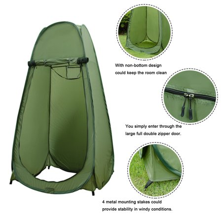 ORNO TTOBE Zipper Pop Up Changing Room Toilet Shower Fishing Camping Dressing Bathroom Tent