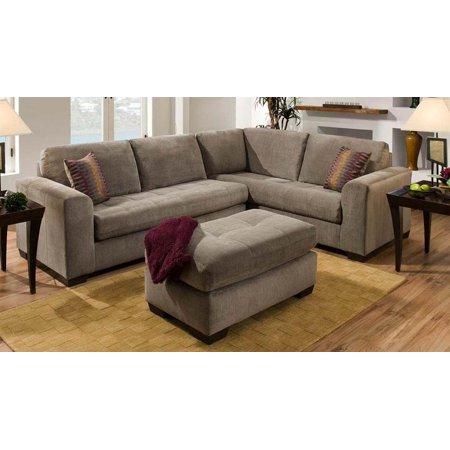 Corner sofa sectional with ottoman walmartcom for Sectional sofa at walmart