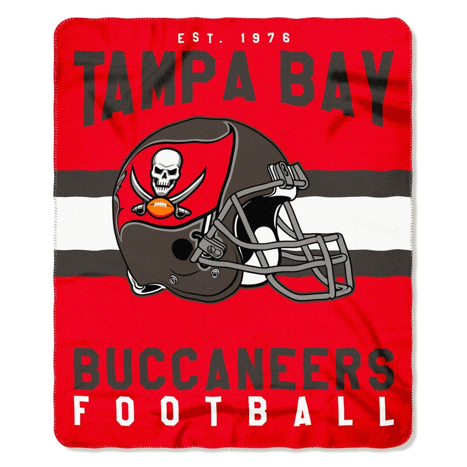 """NFL Tampa Bay Buccaneers Singular 50-Inch by 60-Inch Printed fleece Throw Blanket, Red, 50-inches x 60"""""""