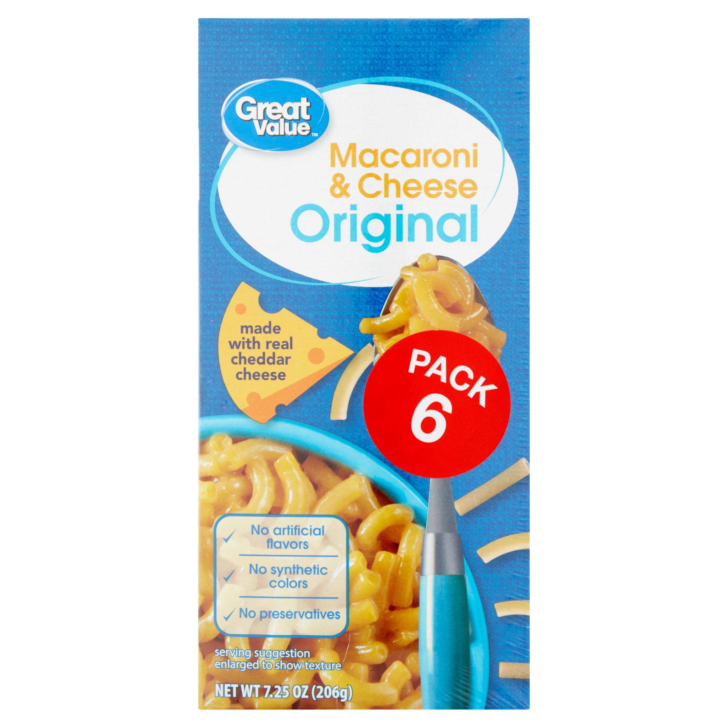 Great Value Original Macaroni & Cheese, 6 Count