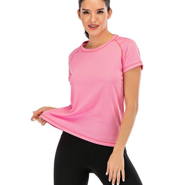 SAYFUT - Women's Performance Tennis Gym & Exercise Activewear Top Short  Sleeve T-Shirt Running Shirts - Walmart.com - Walmart.com