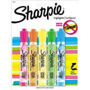 25573PP Sharpie Accent Highlighter - Chisel Marker Point Style - Fluorescent Green, Fluorescent Orange, Fluorescent Pink, Fluorescent Yellow, Blue Ink - Translucent Barrel - 5 / Pack