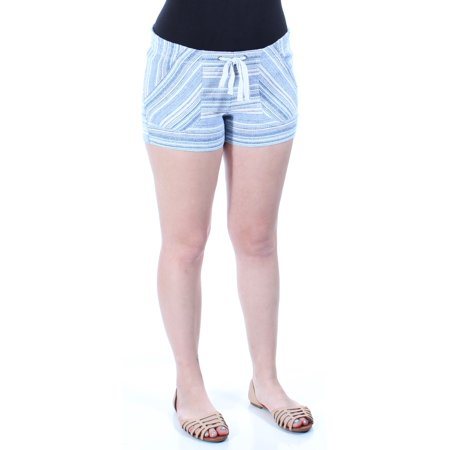 REWIND Womens Blue Tie Striped Cropped Intimates Short  Size: S