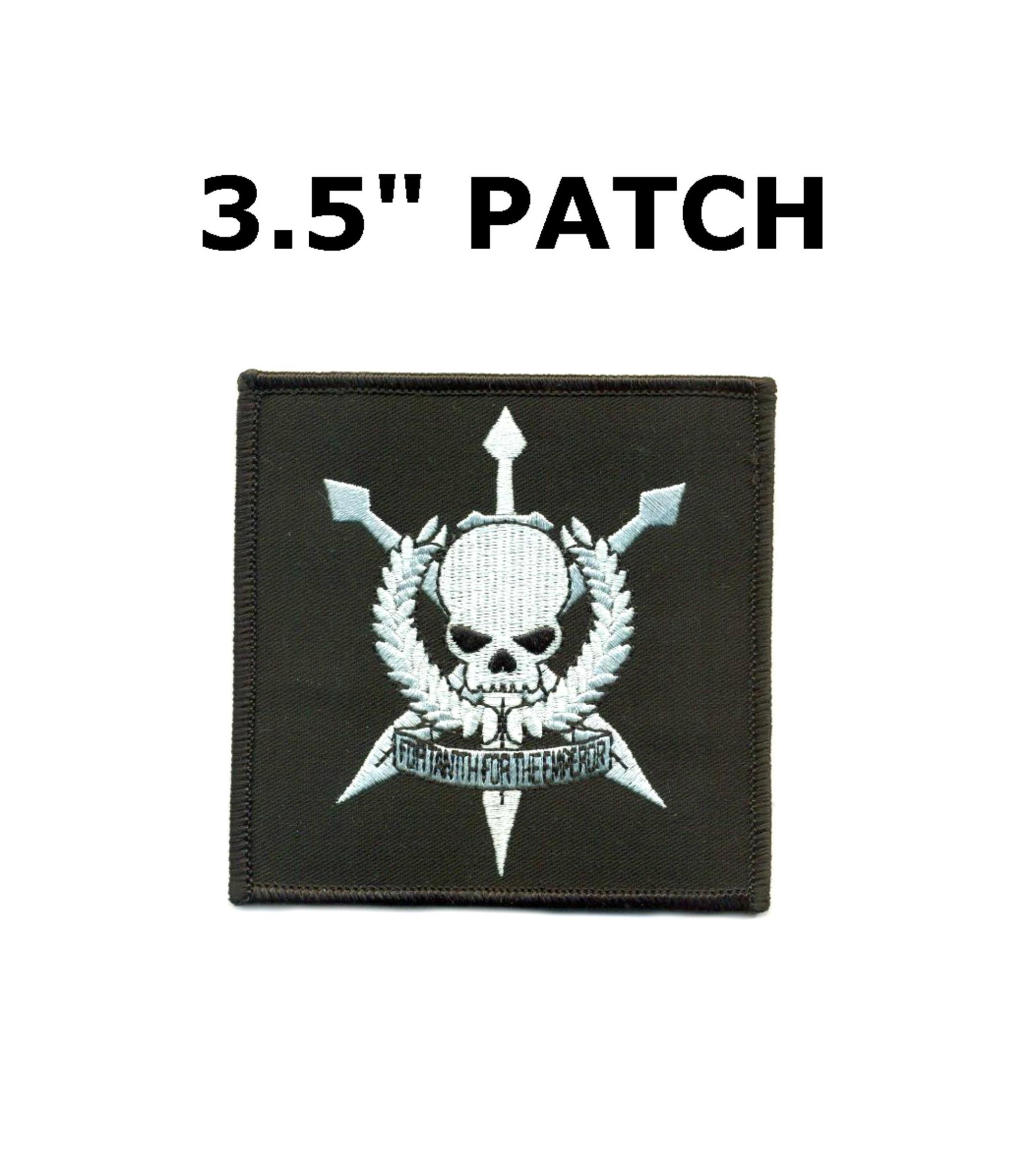 Chaos Marine Embroidered Hook Loop Patch Warhammer 40K Name Tag sew-on Applique