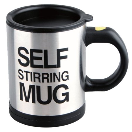 Self Stirring Coffee Mug 8 Oz Stainless Steel Automatic Self Mixing