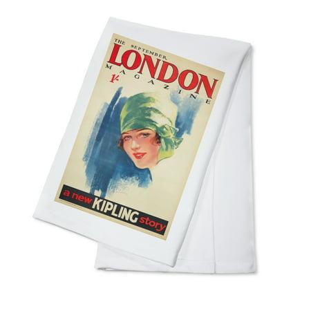 London Magazine Vintage Poster (artist: Purvis) UK c. 1927 (100% Cotton Kitchen (London Magazine)