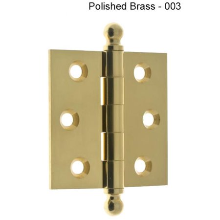 Idh by St. Simons 80100-003 2.5 x 2.5 in. Solid Brass Ball Tip Loose Pin Door Hinge - Polished Brass, - Polished Brass Ball Tip
