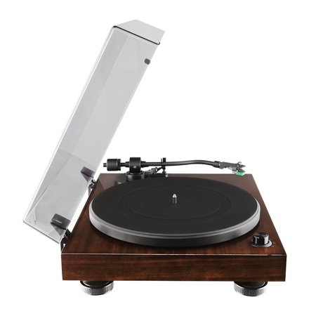 Fluance RT81 Elite High Fidelity Vinyl Turntable Record Player with Audio Technica AT95E Cartridge, Belt Drive, Built-in Preamp, Adjustable Counterweight, Solid Wood Plinth - Walnut - image 10 de 11