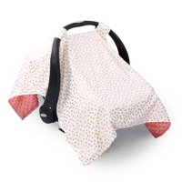 Metallic Gold Dot Infant Car Seat Canopy Cover by The Peanut Shell