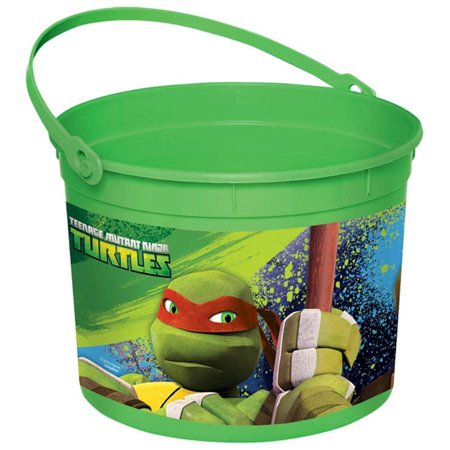 Teenage Mutant Ninja Turtles Plastic Bucket](Girl Ninja Turtle Party)