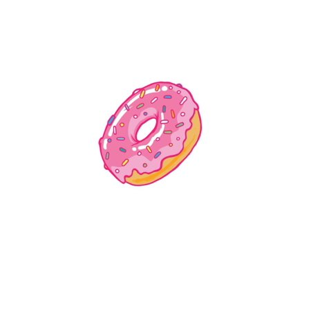 Pink Frosted Donut in Profile Poster -