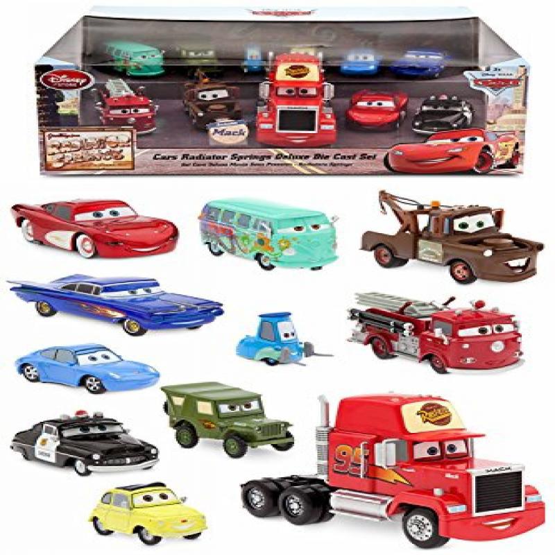 Disney Store Cars Radiator Springs Deluxe Die Cast 11 Car Set: Mack Exclusive by