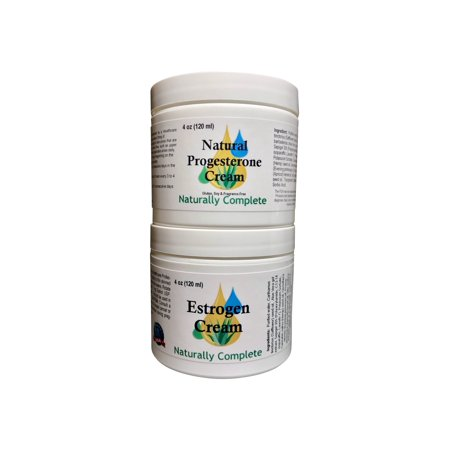 - Naturally Complete Estro Pack = Two 4 oz. Jars = One Progesterone & One Estrogen/Estriol 2 Natural Menopause Products in One Package | Non-GMO | Soy-Free