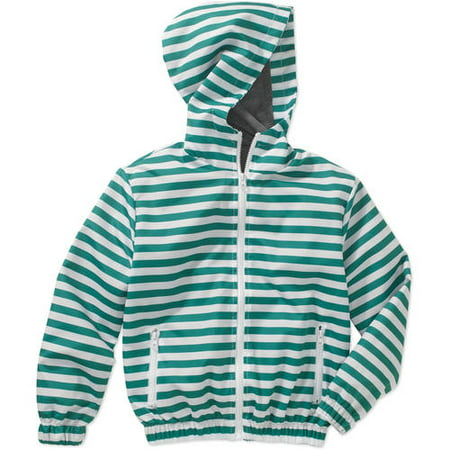 BOCINI Boys' Lightweight Hooded Stripe Jacket