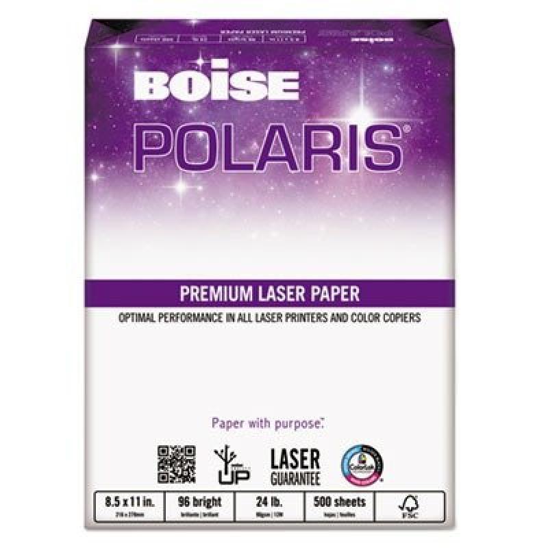 Boise HD:P 3-Hole Color Copy/Laser Paper, 96 Brightness, 24 lb, Letter Size (8.5 x 11), 500 Sheets (BPL-0111-P)