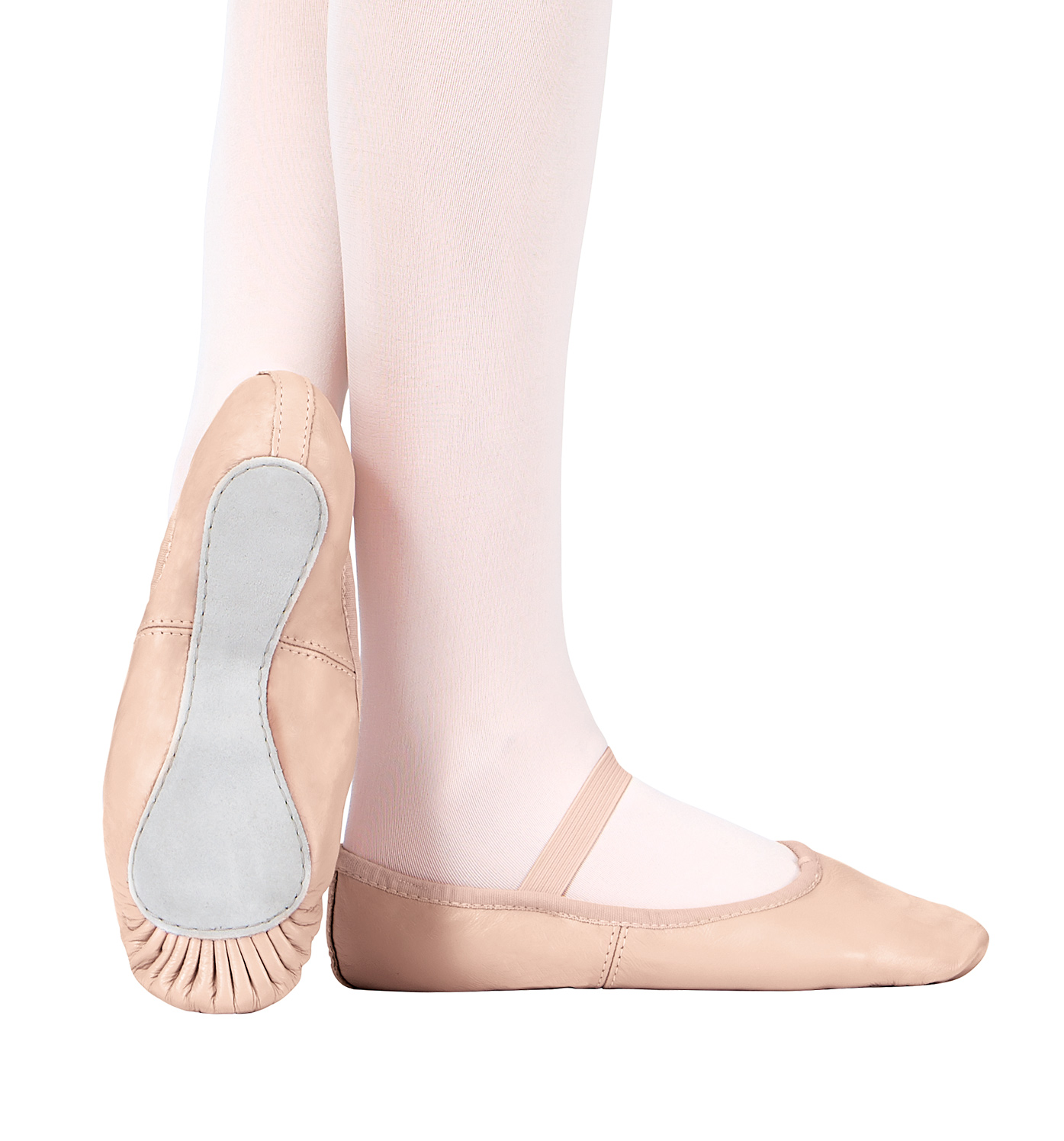 Child Premium Leather Full Sole Ballet Shoes by THEATRICALS