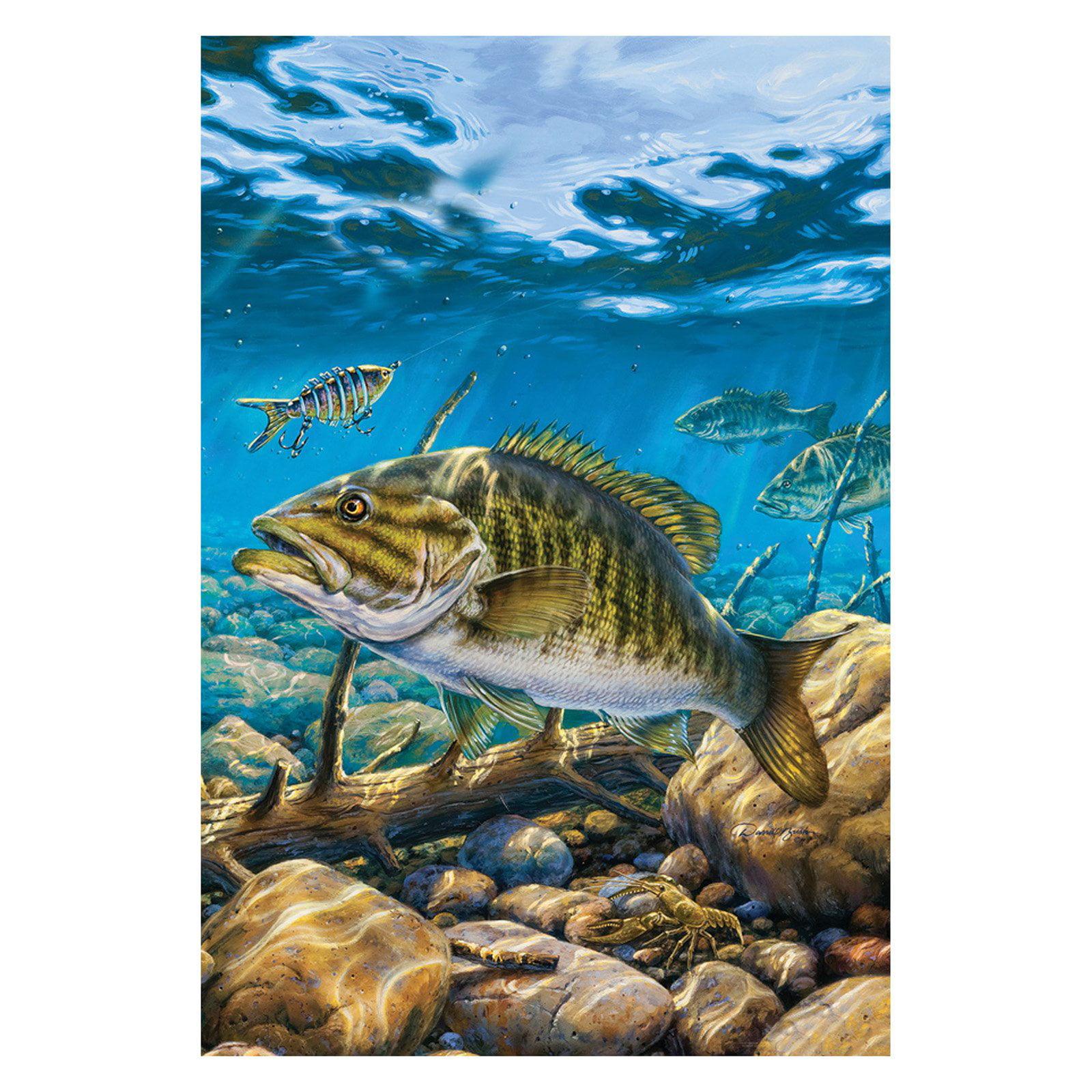 Toland Home Garden Smallmouth Bass Pond Flag