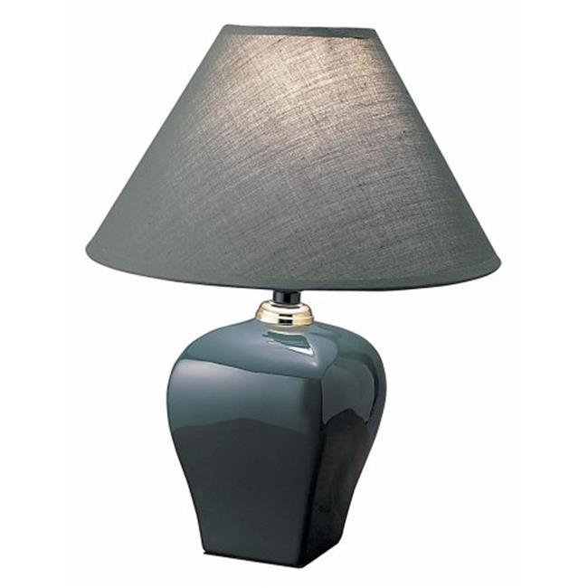 Ore International 608GN Ceramic Table Lamp - Green
