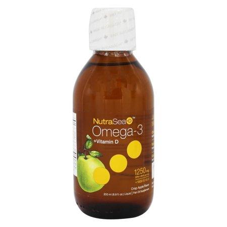 Ascenta Health - NutraSea + D liquide Omega 3 avec la vitamine D Crisp d'Apple saveur - 6,8 oz