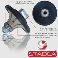"3/4"" granite bullnose profile wheel edges - Half Radius Demi B20 For Marble Stone Profile Grinding By STADEA"