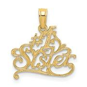 14K Yellow Gold #1 Sister Charm (16.9 mm X 16.5 mm)