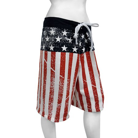 Patrick Star Shorts (American Flag Stars and Stripes Distressed Board)