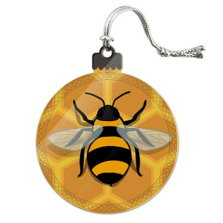 Bee on Honeycomb Acrylic Christmas Tree Holiday Ornament](Bee Ornaments)